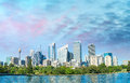 Beautiful panoramic skyline of Sydney, NSW - Australia Royalty Free Stock Photo