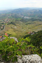 Beautiful panoramic view from hill of San Marino Royalty Free Stock Photos