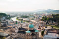 Beautiful panoramic view of Salzburg in the evening,  Austria Royalty Free Stock Photo