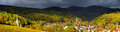 Beautiful panoramic view to Andlau, France Royalty Free Stock Photo