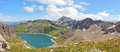 Beautiful panoramic view to lunersee and austrian alps Stock Images
