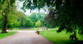 Beautiful park allier napoleã n iii vichy france Stock Photos