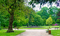 Beautiful park allier napoleã n iii vichy france Stock Image
