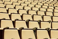 A beautiful pattern of auditorium seats built to celebrate gatherings people primarily for education and entertainment Royalty Free Stock Image
