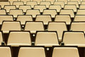 A beautiful pattern of auditorium seats built to celebrate gatherings people primarily for education and entertainment Royalty Free Stock Photos