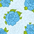 Beautiful pattern with blue flowers Royalty Free Stock Photo