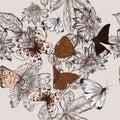 Beautiful pattern with butterflies
