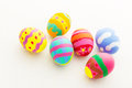 Beautiful pattern easter egg isolated on white Stock Photography