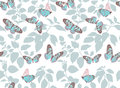 Beautiful pattern with flying butterflies.