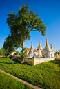 Beautiful Paya in Ava, Mandalay, Myanmar. Royalty Free Stock Photography