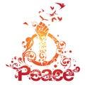 Beautiful Peace Ornamental Design Royalty Free Stock Image