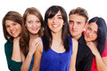 Beautiful people multinational young happy group of groupphoto series Royalty Free Stock Images