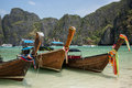 Beautiful phi phi tropical island boat trip exotic cliff krabi thailand asia adventure Stock Photo