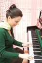 Beautiful pianist Royalty Free Stock Image