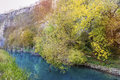beautiful picturesque autumn landscape of river in the mountain- Iskar-Panega Geopark Royalty Free Stock Photo