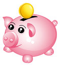 Beautiful piggy bank. Royalty Free Stock Images