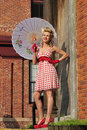 Beautiful pin up girl smilng Royalty Free Stock Image
