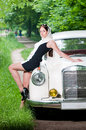 Beautiful pin-up styled girl Royalty Free Stock Photo