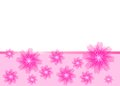Beautiful pink card with flowers Stock Photos