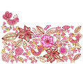 Beautiful pink floral background with birds Royalty Free Stock Photos