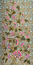Beautiful pink flower leaf pattern fabric Royalty Free Stock Photography