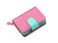 Beautiful pink leather purse Stock Image