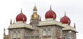 Beautiful pink marble domes with Golden tower in the middle, Mysore palace Stock Photography