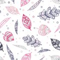 Beautiful pink and purple ornamental leaves seamless pattern, colorful, hand drawn seasonal background, great for fall autumn