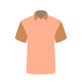 Beautiful pink T-shirt Isolated on White. Vector Illustration. Royalty Free Stock Photo