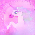 beautiful pink Unicorn. Royalty Free Stock Photo