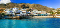 Beautiful places in Crete - pictorial small village Chora Sfakio Royalty Free Stock Photo