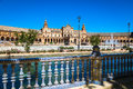 Beautiful Plaza de Espana, Sevilla, Spain Royalty Free Stock Photo