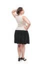 Beautiful plus size woman Stock Photo