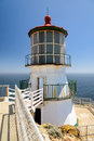 Beautiful point reyes lighthouse california on the rock Royalty Free Stock Image