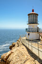 Beautiful point reyes lighthouse california on the rock Royalty Free Stock Photography