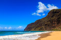 Beautiful polihale beach beginning of the napali coast at state park in kauai hawaii islands Stock Photos