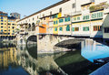 Beautiful Ponte Vecchio is mirroring in the river Arno, Florence Royalty Free Stock Photo