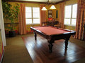 Beautiful Pool Table and Game Room Royalty Free Stock Photo