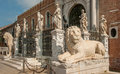 Beautiful the porta magna at the venetian arsenal venice italy Royalty Free Stock Photo