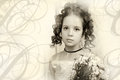 Beautiful portrait of a girl in victorian era retro style Stockfotos