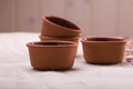 Beautiful pottery bowls Royalty Free Stock Photo