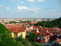 Beautiful prague view above Stock Photos