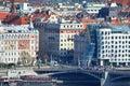 Beautiful Prague - view from Petrin park Royalty Free Stock Photo