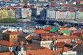 Beautiful Prague, view from Petrin park Royalty Free Stock Photo