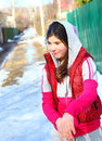 Beautiful preteen girl country portrait Royalty Free Stock Photo