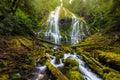 Beautiful Proxy falls in mist, Oregon Royalty Free Stock Photo