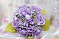 Beautiful purple wedding flowers bouquet Stock Photo