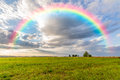 Beautiful rainbow in the sky Royalty Free Stock Photo
