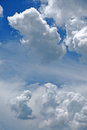 Beautiful rainclouds in the blue sky at chiangmai thailand city northern Stock Photos