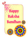 Beautiful Rakhi on Raksha Bandhan background